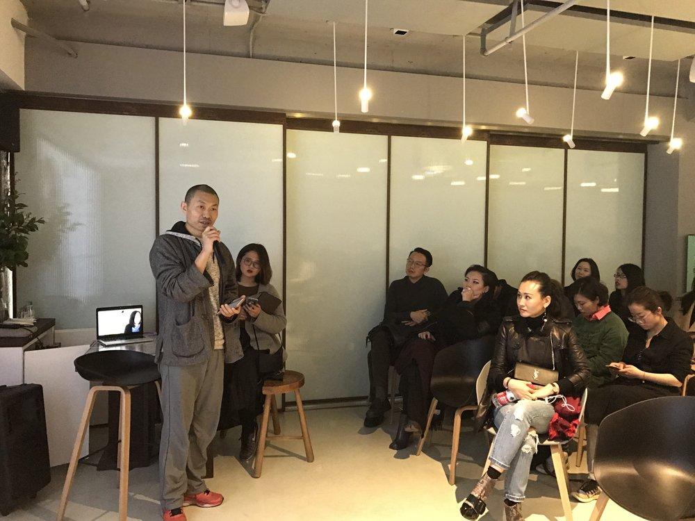 左一嘉宾:艺术家邱黯雄先生