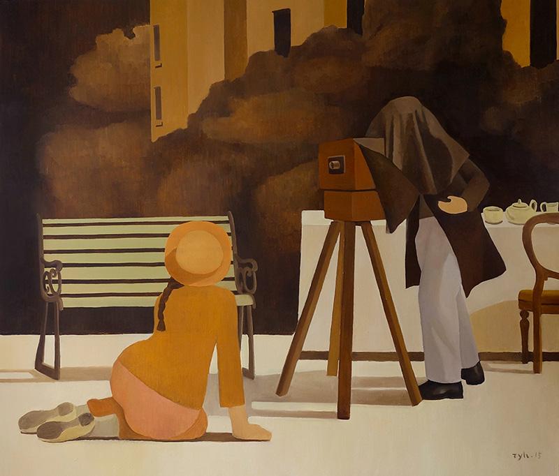 张业鸿,《金色的下午》-160x190cm-布面油画-2015