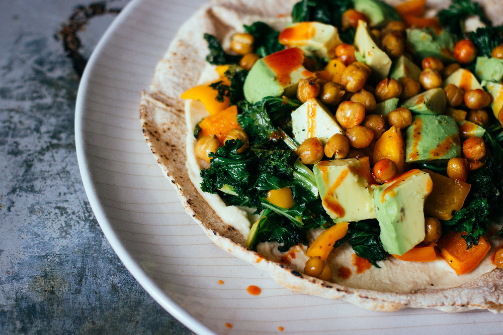 double chickpea, chipotle taco