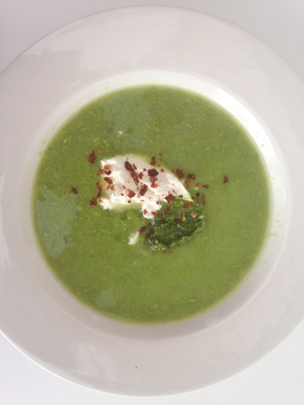 Pea & Pesto Soup