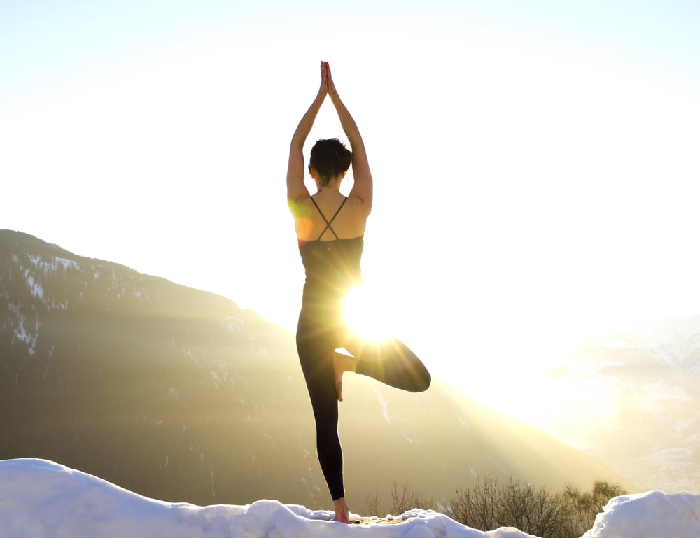 Pause Play Snow Yoga