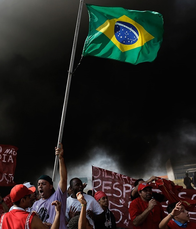 Protest against the 2014 World Cup in Sao Paulo. Reuters