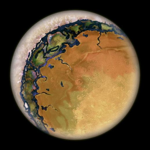 Eyeball shaped planet