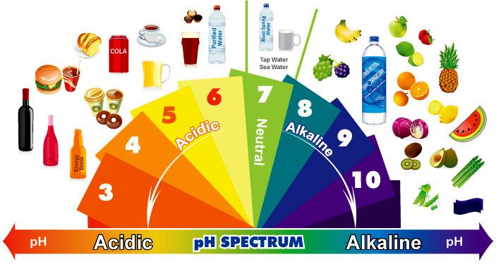 Alkaline PH diet table