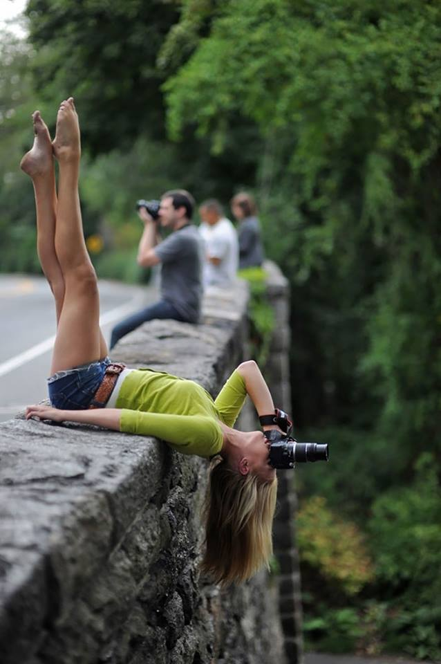 risky woman photographer