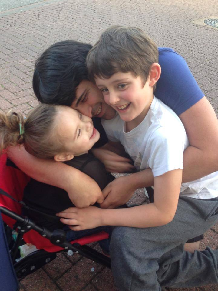 Mr Gareth Gingell above withHIS KIDS,has been threatened with legal action.