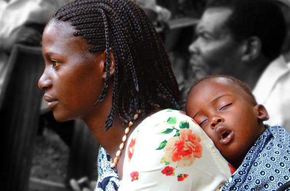 Stephen Valentine-Maman en Afrique.