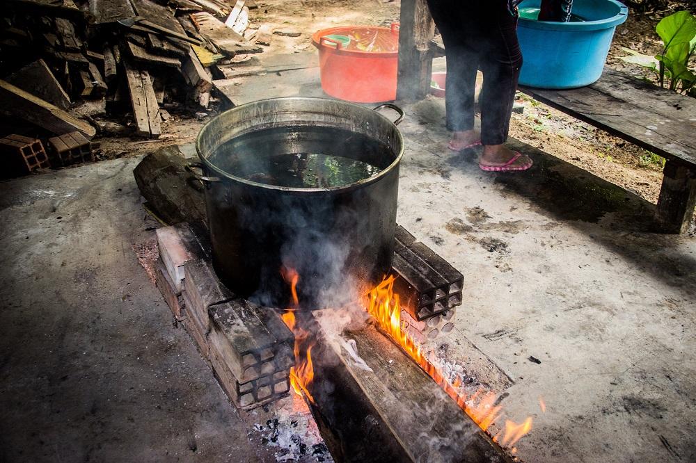 Preparación de Ayahuasca