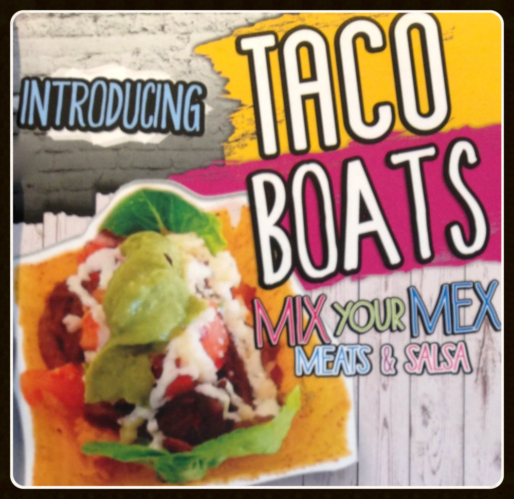 In case you haven't tasted one yet (yeah right!), we've added Taco Boats to our menu.  So it can be Taco Tuesday every single day. Nice.