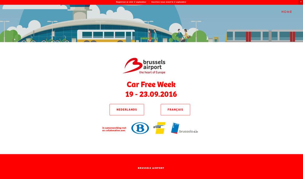 Registratie voor de Car Free Week op de luchthaven van Zaventem www.carfreeweekbrusselsairport.be