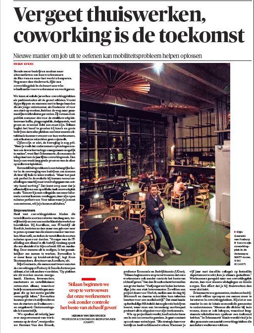 11/01/17 dM - Vergeet thuiswerken, coworking is de toekomst