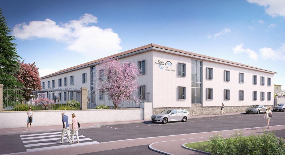 Restructuration et extension d'un bâtiment EHPAD.