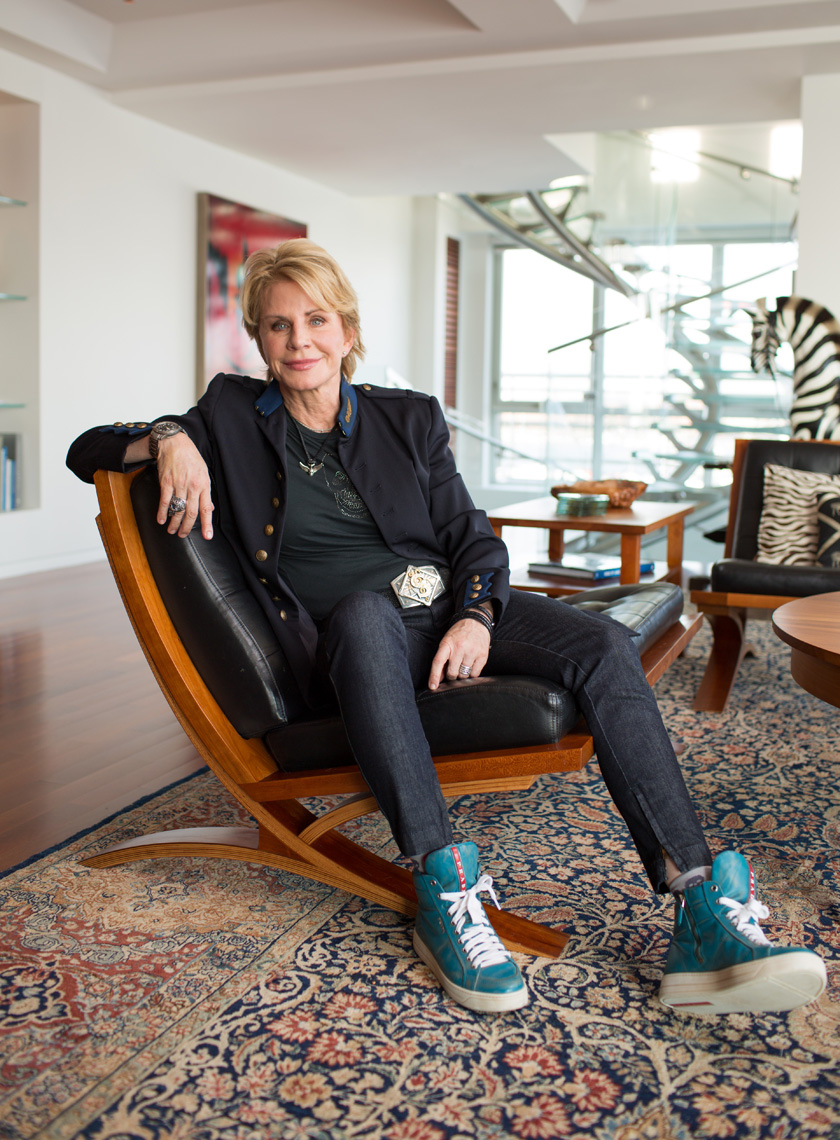Patricia Cornwell at home for The Wall Street Journal