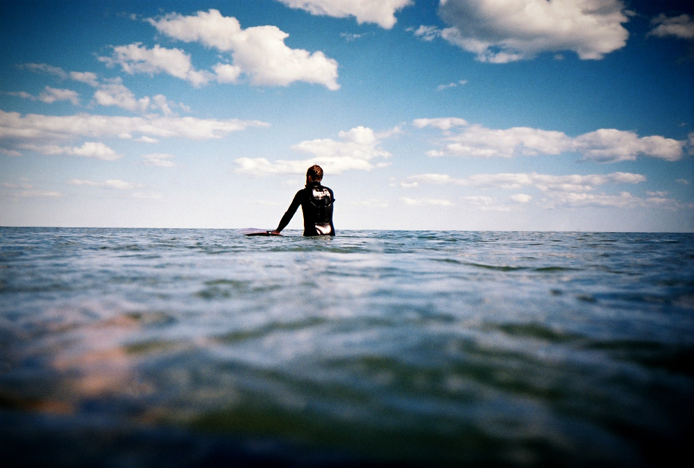 I fell in love with surfing this year. After trying a few times here and there since 1995 I finally got a board and wetsuit of my own a year or so ago and I am hooked.  I got an underwater film camera to work on a personal project about it. Stay tuned.