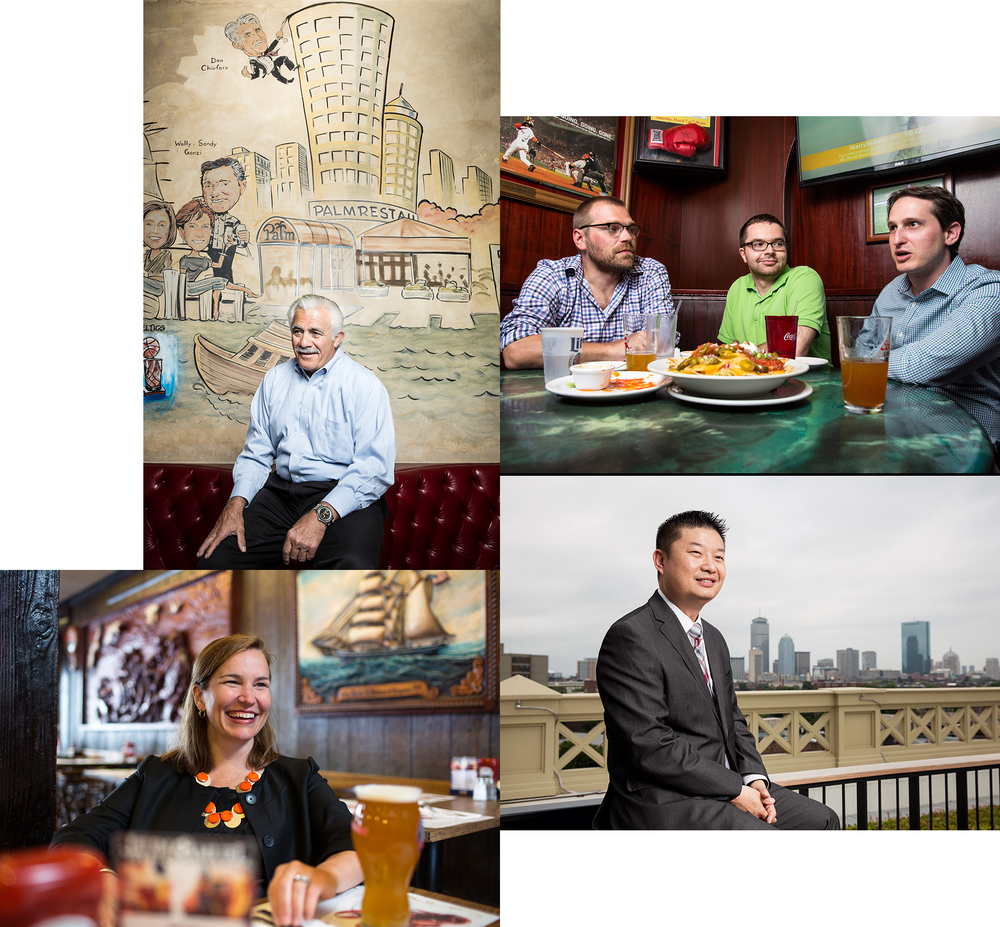 I have been very excited to shoot the Power Lunch Section for the past few months for Boston Magazine. I get to sit with some very influential people in Boston. (Clockwise from top Left. Real Estate big wig Don Chiofaro, The faces behind Draft Kings, New Superintendent Dr. Thomas Chang and Liz Morningstar, the person behind the Boston Public Market. I have a couple more already shot, so keep your eyes peeled.