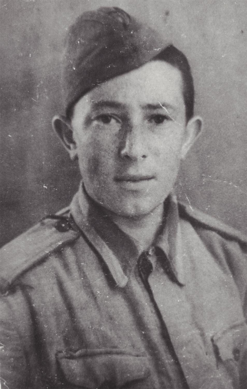 Portrait of cadet Dayel. Fergana, Uzbek Soviet Socialist Republic. 1943