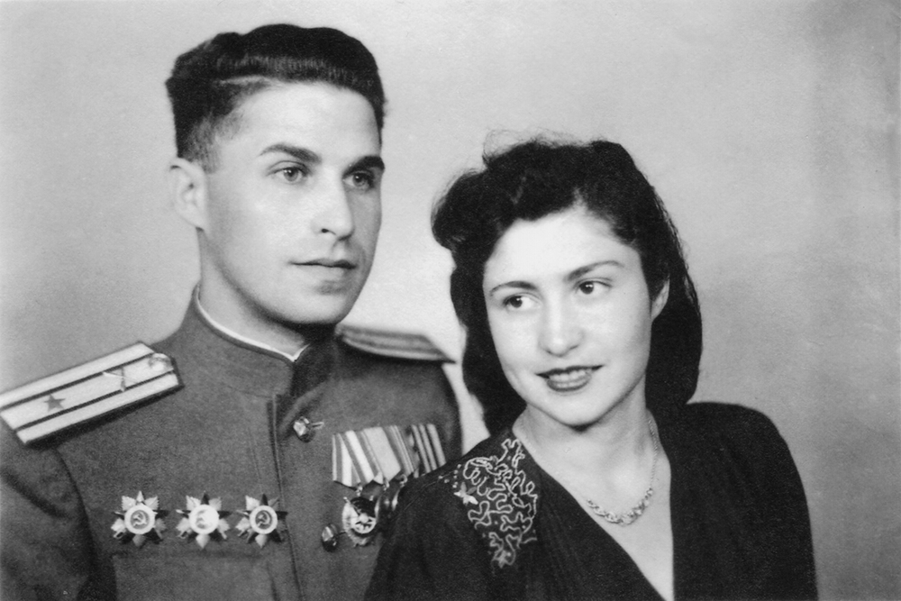 Newlyweds, Leonid and wife Fira. May   1, 1946.