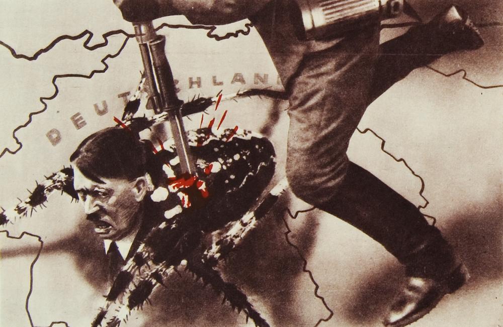 "Leaflet ""Front Illustrierte"" (detail). Artist Alexander Zhitomirsky."