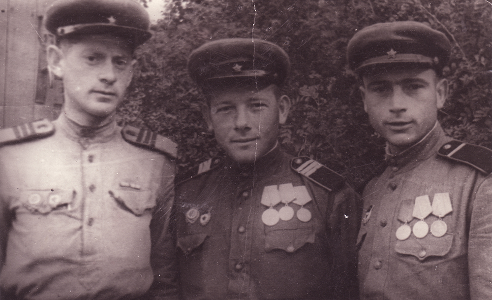 Photograph, Aaron Chernyak on left. 1944