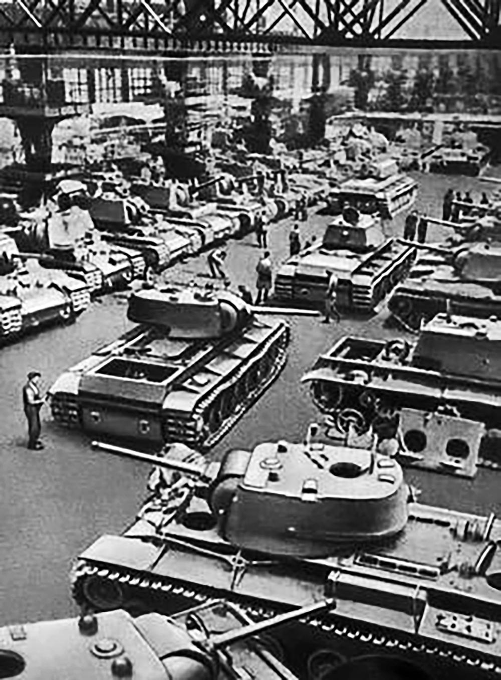 T34 tanks.