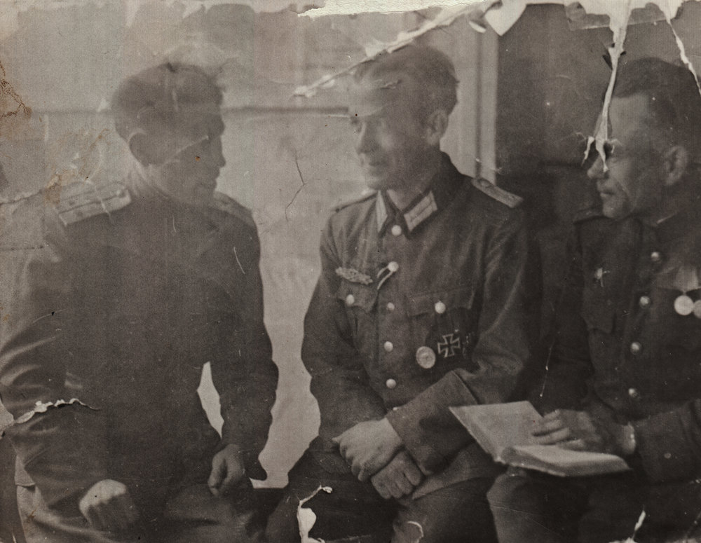 Abram Kashper (left). Germany, 1945