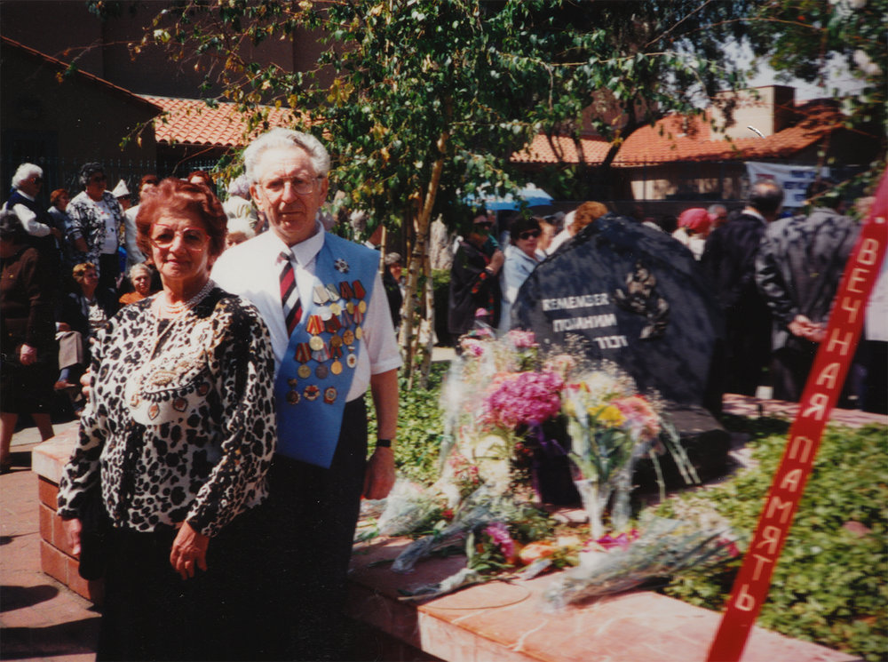 Yuliy and Ida Pinsky during Victory Day celebration in Los Angeles, 2008