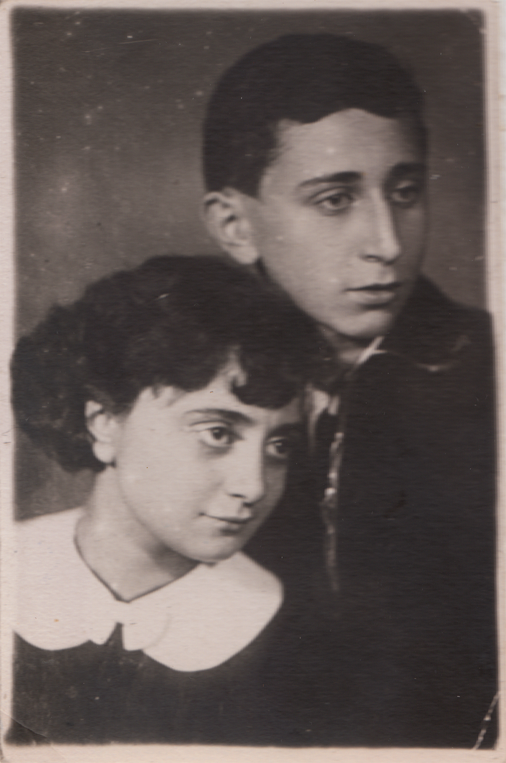 Yuliy and Ida Pinsky, wedding photograph. Kyiv, Ukraine. November 7, 1950