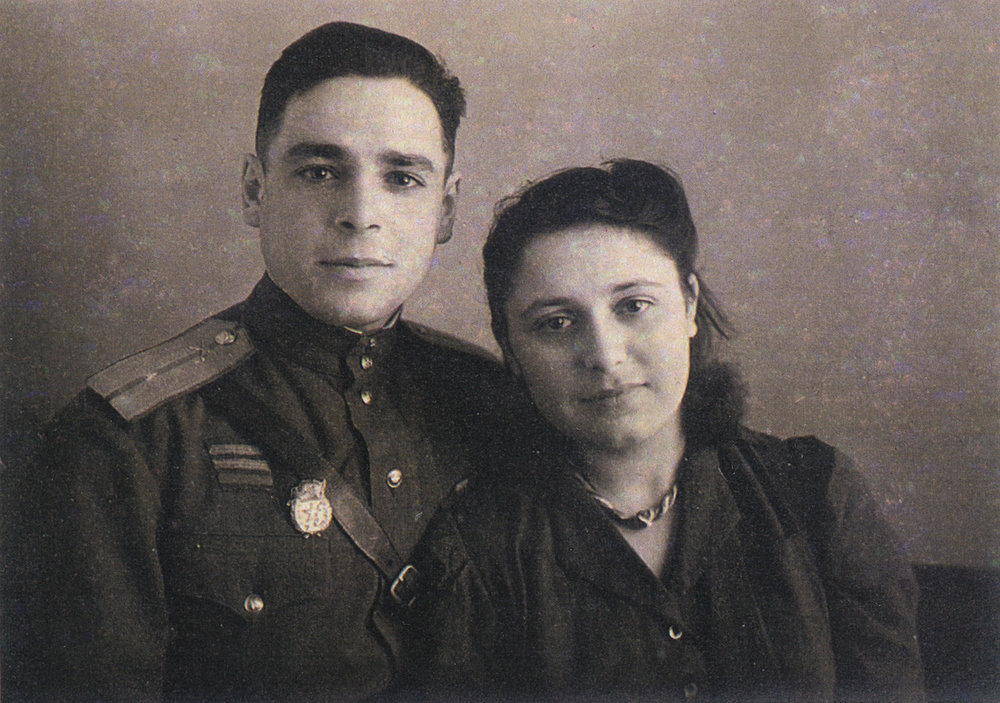 Vladimir Barkon with his wife, Elena. Western Ukraine, 1948