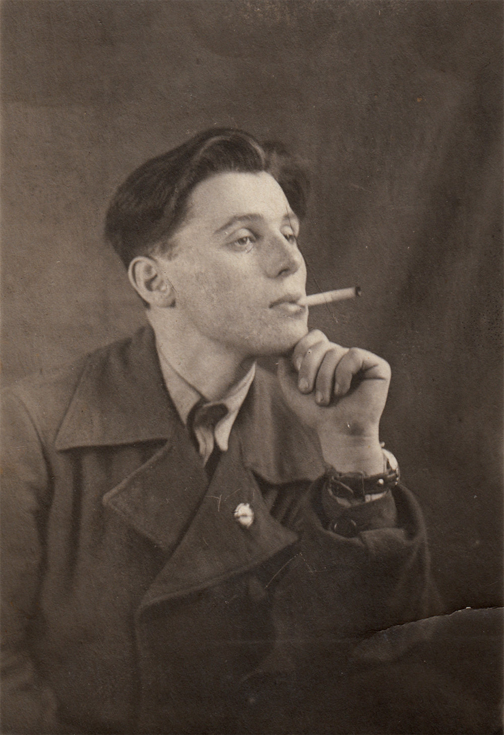 Efim Stolyarky, 17 years old. Vinnytsia, Ukraine. 1940