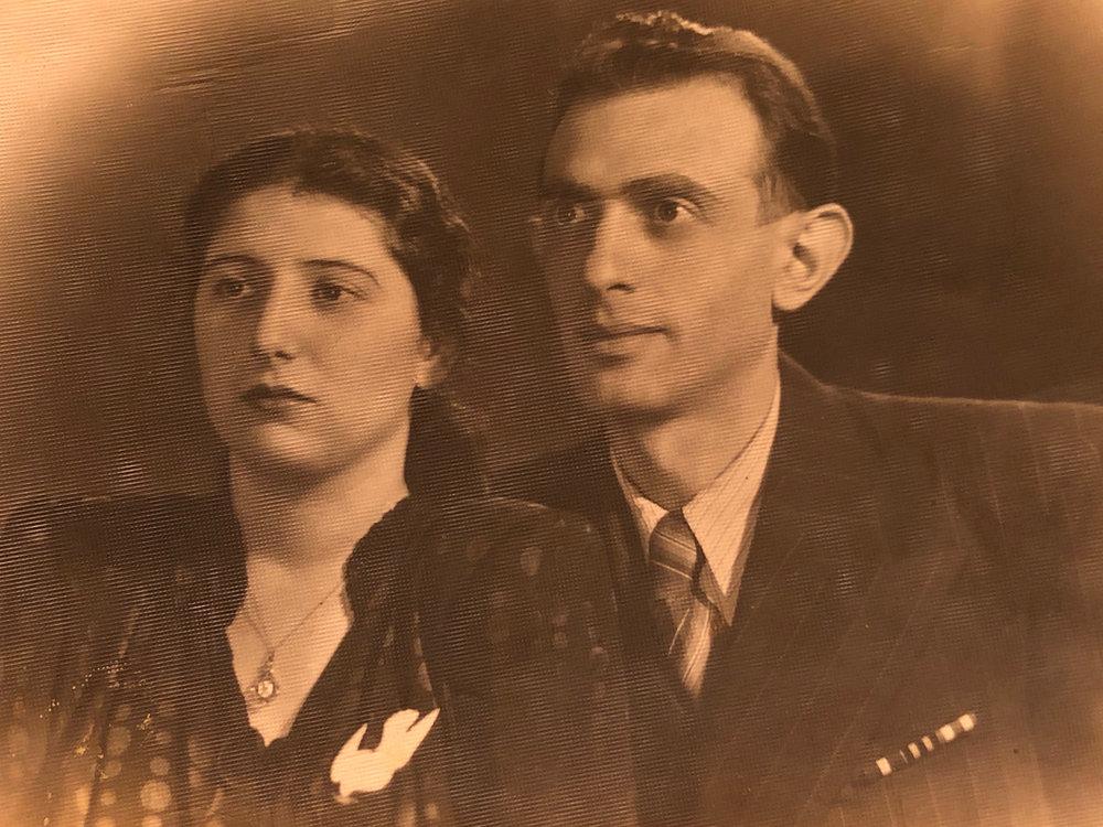 Yulia and Gennady Shikhelman. Odesa, 1952