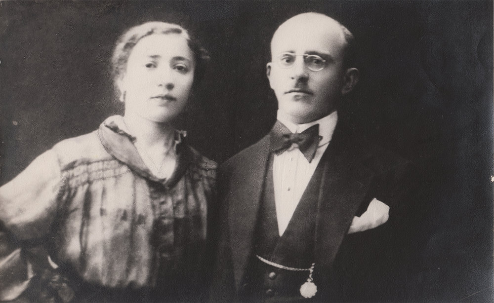 Mira and Lev Pinsky, Yuliy's parents. Kyiv, 1918. Both perished in Babi Yar.