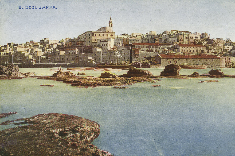 Illustration of Jaffa as seen from the water