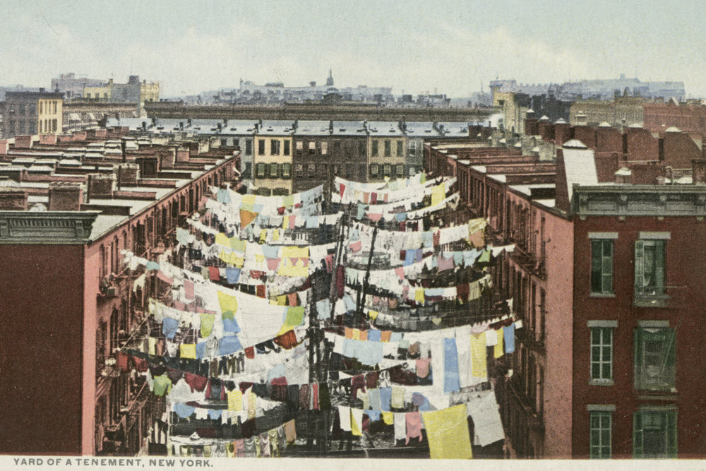 Yard of a Tenement. New York C. early 1900s