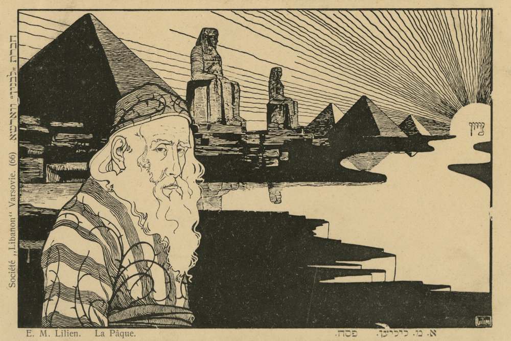 "Illustration by Lilien: ""La Paque"" [Passover]"