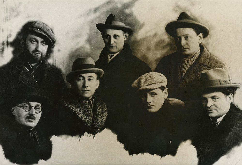 Markish, Peretz. Group Photo, Warsaw, Poland. ca. 1922 - 1926