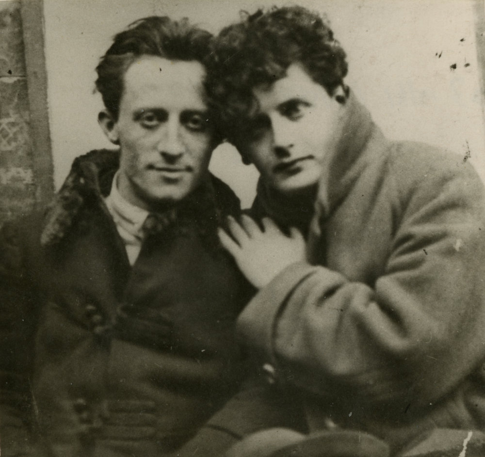 Peretz Markish with Uri Zvi Grinberg (Greenberg), 1922