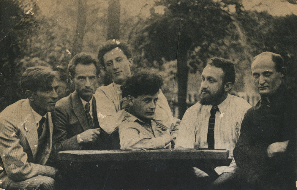 Peretz Markish with Yiddish literary group near Warsaw, 1922