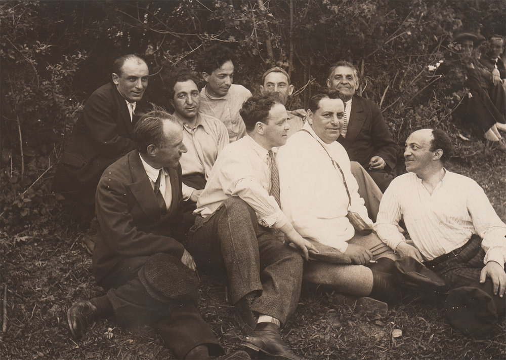 Photograph of Moscow State Yiddish Theatre actors. 1931