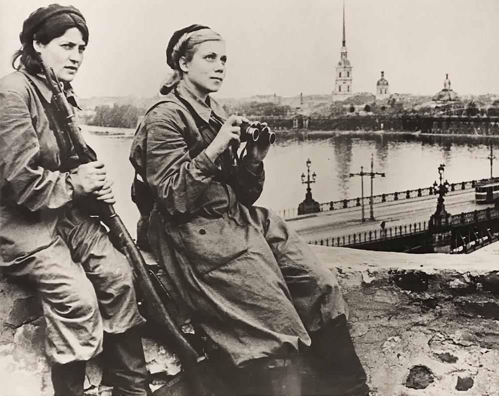 Boris Kudoyarov's photograph taken during the Siege of Leningrad during WWII. ca. 1941-1944