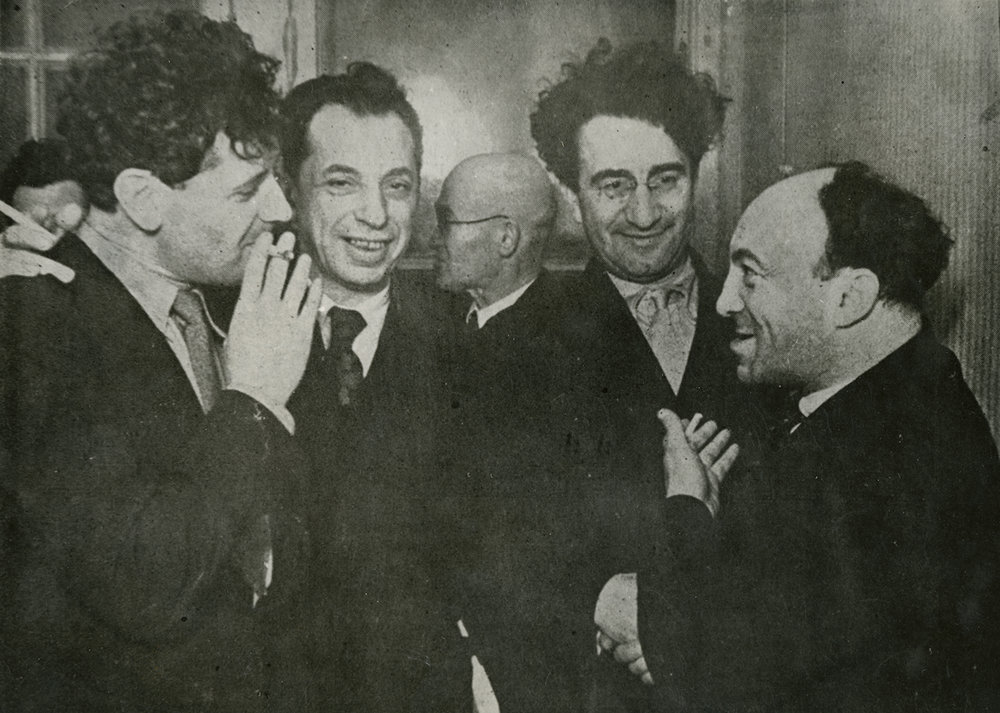 Markish with Bergelson, Kharik and Mikhoels, 1937