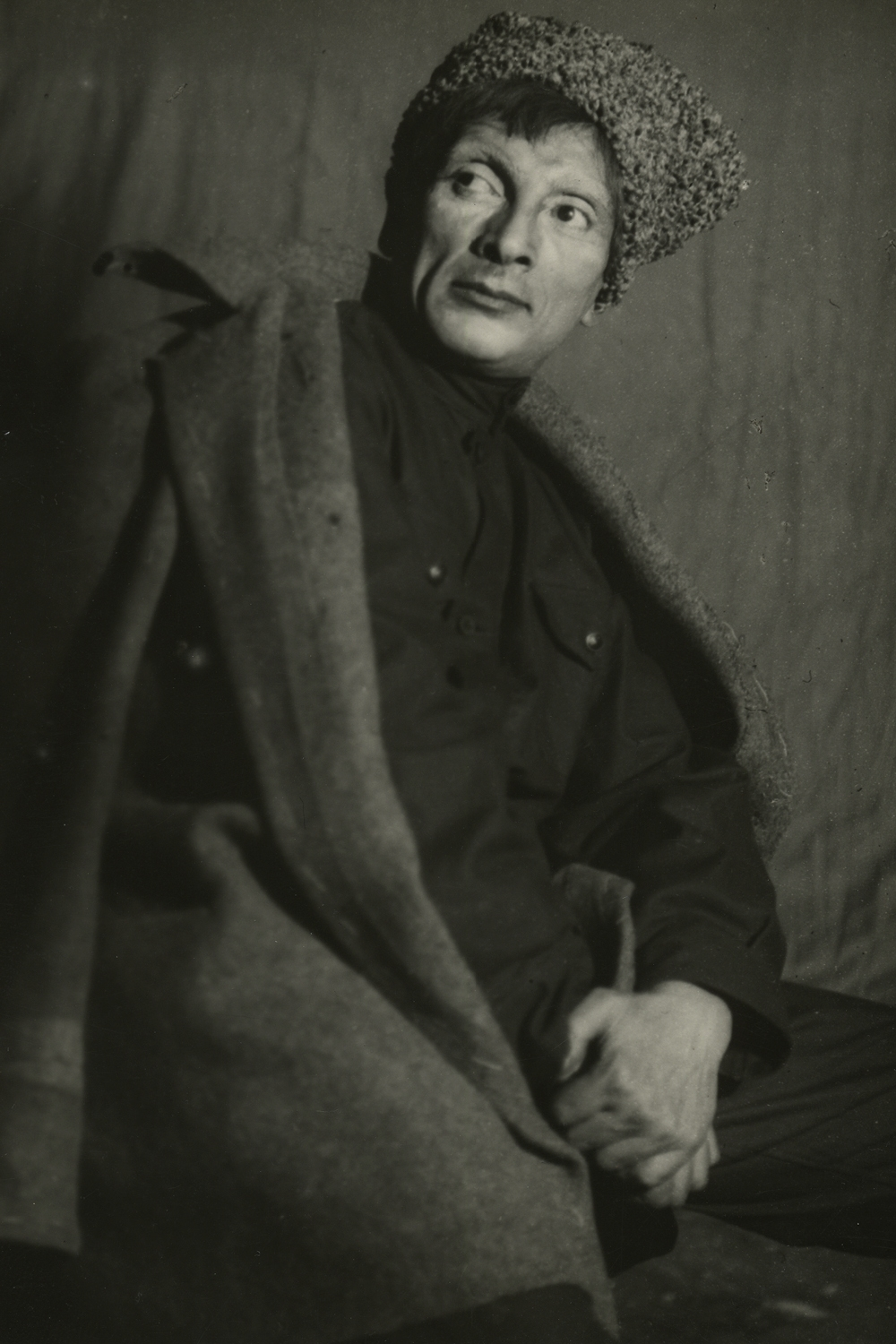 Photograph of Moscow State Yiddish Theatre actor in character.