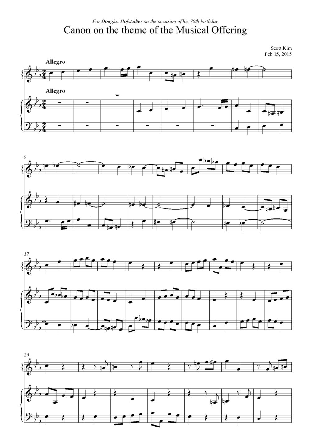 musical offering canon 3 voices delay 6 quarters c twp repetitions - Full Score_Page_1.png