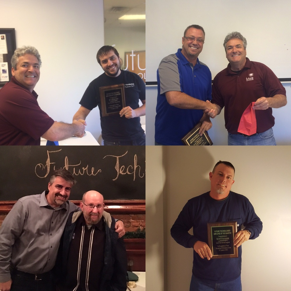 Clockwise starting from top left    Q3 Employee Kyle Purintun  Q2 Employee Scott Broadfoot  Q4 Employee Scott Faulkner  Q1 Employee Ted Bradford