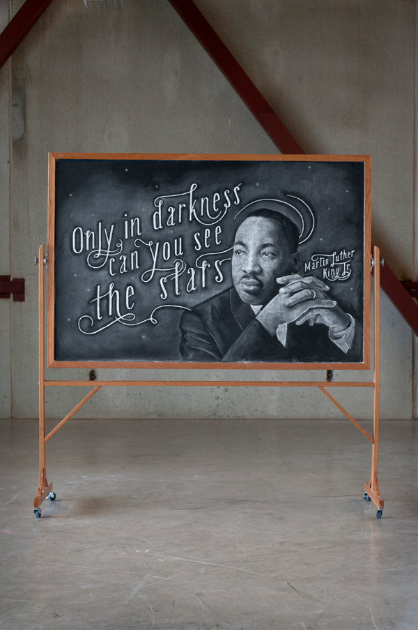 "WEEK 13  -  Martin Luther King Jr.  ""Only in darkness can you see the stars"""