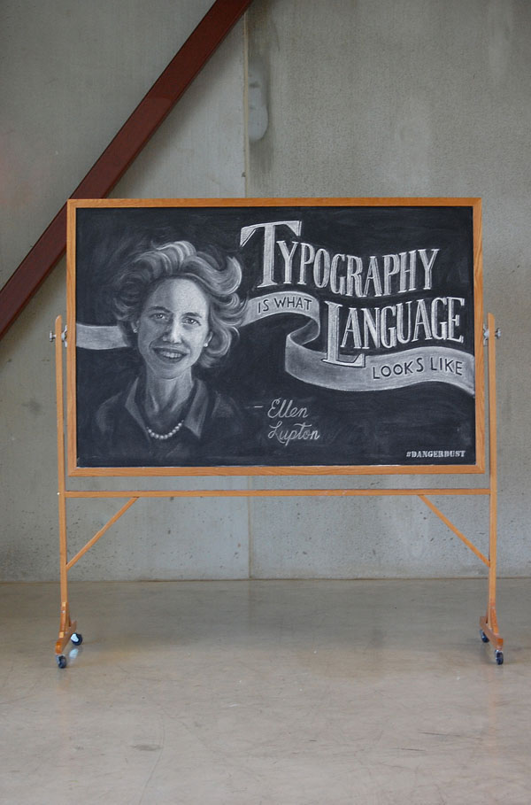 "WEEK 2  -  Ellen Lupton ""Typography is what language looks like"""