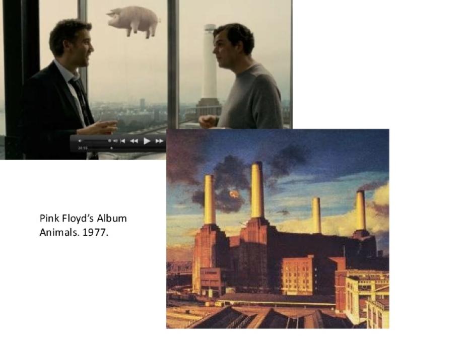 Una referencia también a la cultura popular, en este caso al grupo de culto Pink Floyd.