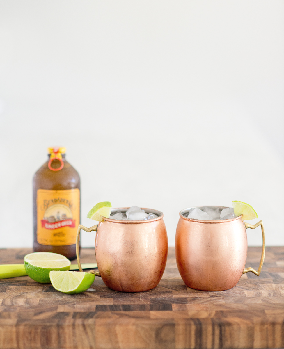 Copper Mugs can be found at Napa Style, Williams Sonoma, or Crate & Barrel