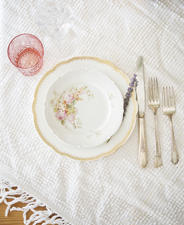 Decorative Vintage China table setting