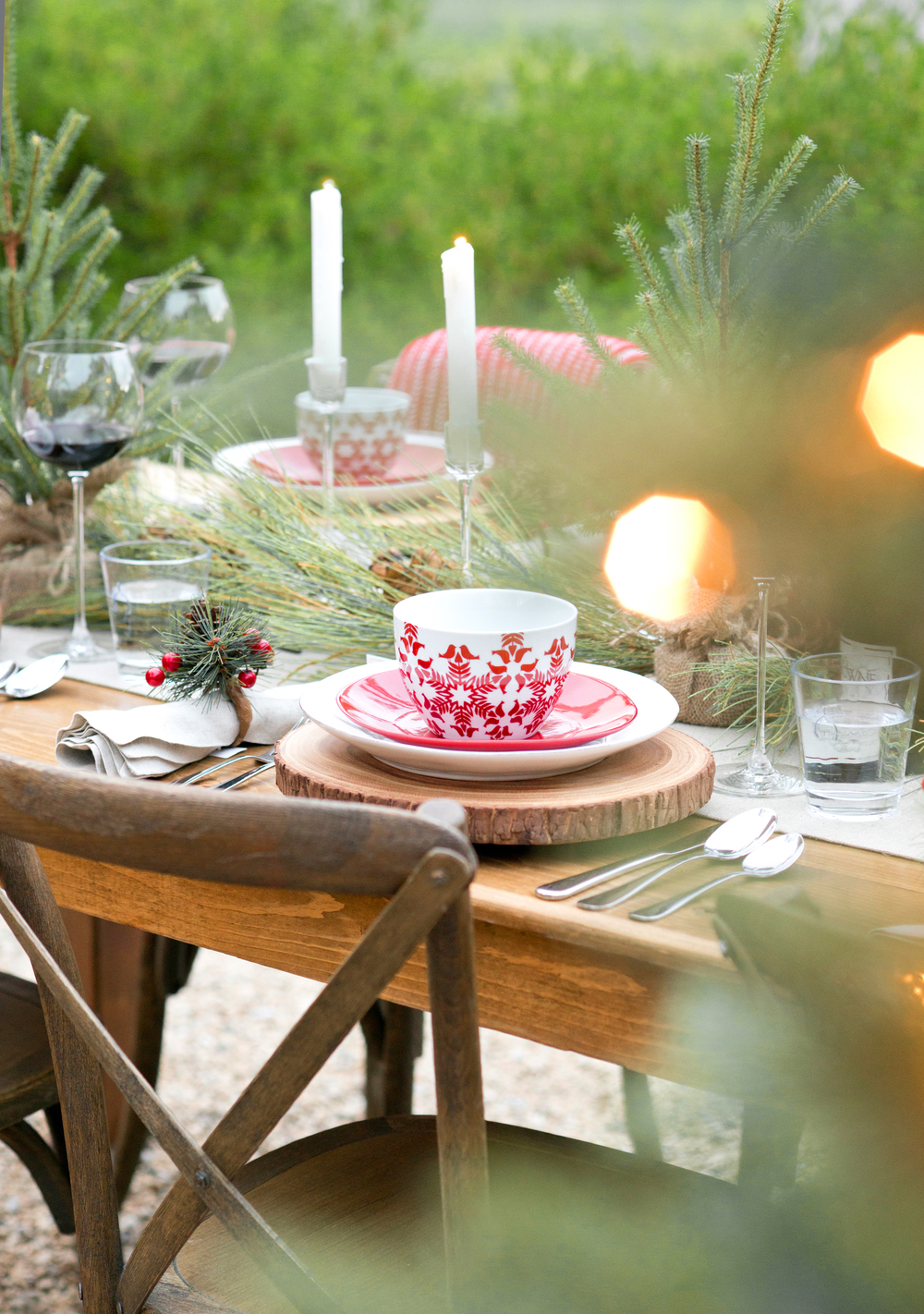 Crate & Barrel Christmas Tablescape - My Splendid Living Christmas Special Blog post - Christmas Amongst the Fir