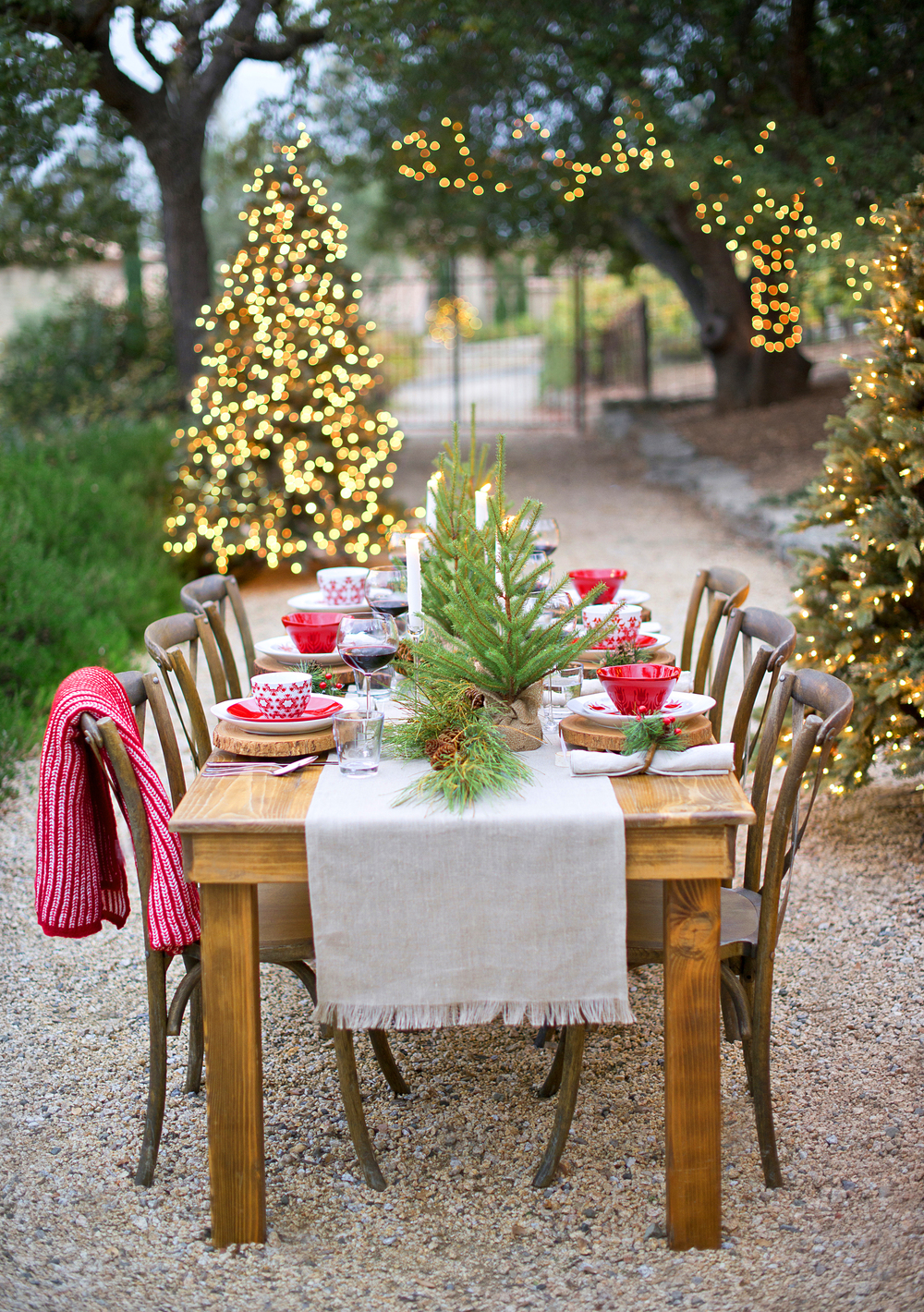 Crate & Barrel Christmas Tablescape with My Splendid Living - Christmas Amongst the Fir